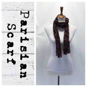 Parisian floral scarf